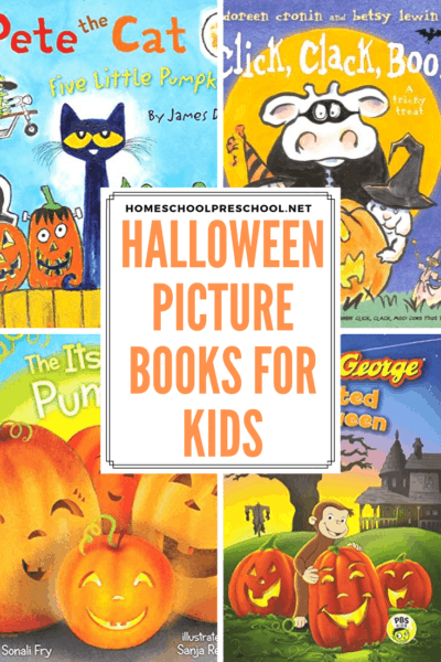 This month, fill your shelves with the best kids Halloween books! They're not scary so they're perfect for preschoolers.