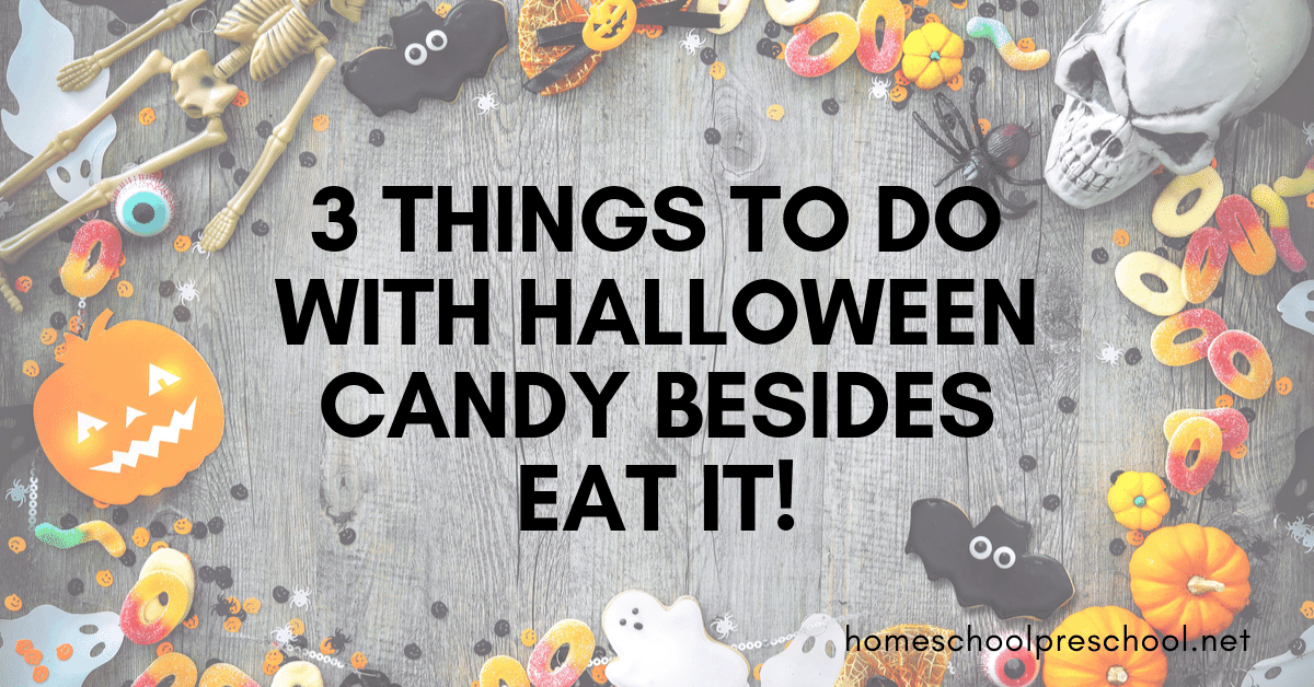 So here are a few fun ideas for what to do with leftover Halloween candy beyond just eating it.