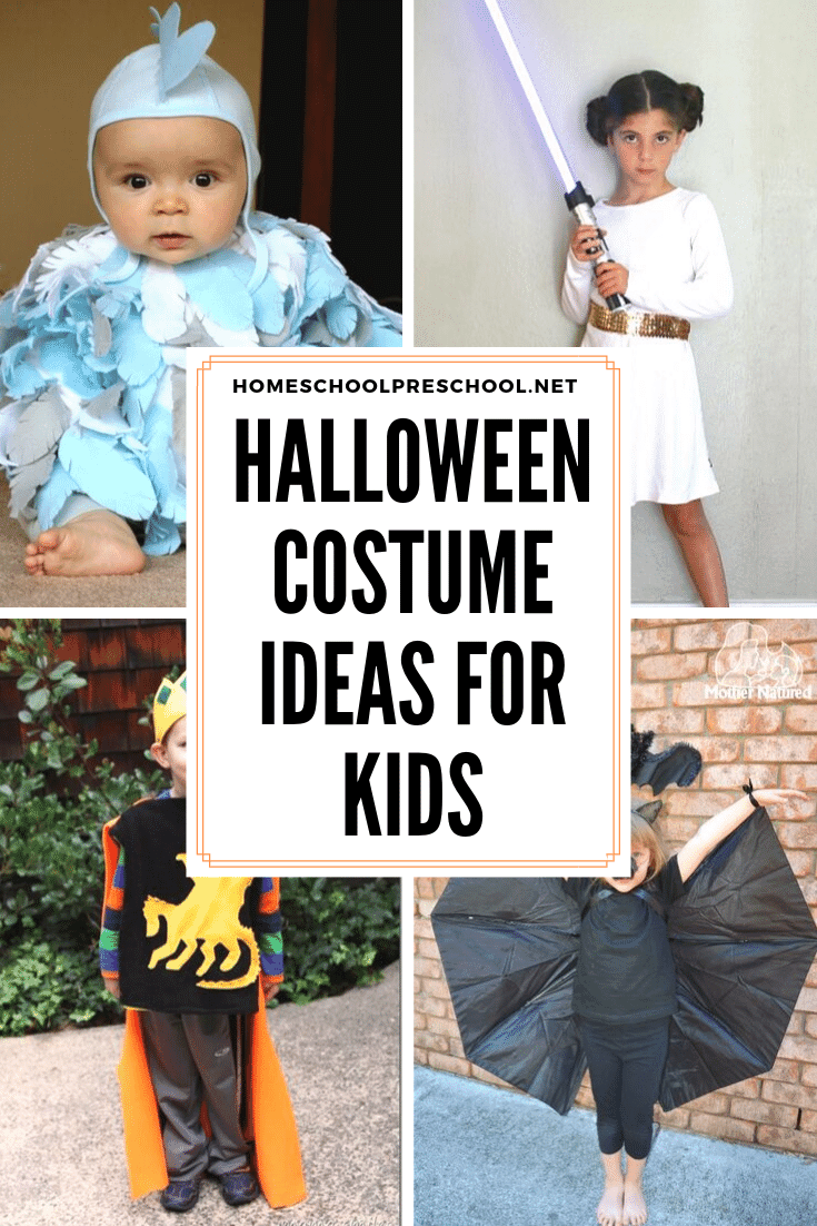 Check out these last-minute ideas for quick and easy preschool Halloween costumes! Your kids (and your pocketbook) will thank you!
