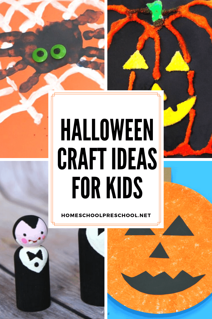 Here's a great collection of Halloween crafts for kids that are cute not scary. They're perfect for little hands. And, they'll get you in the Halloween spirit for sure!