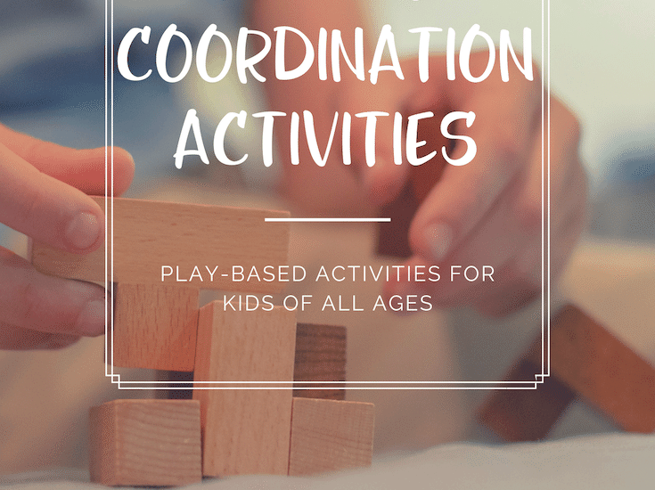 Discover 14 activities to strengthen hand eye coordination. All of these hand eye coordination activities feature play-based learning!