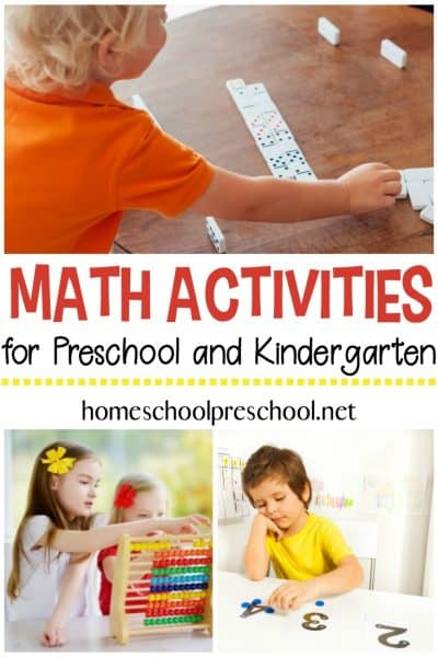 Our Favorite Math Activities for Preschoolers