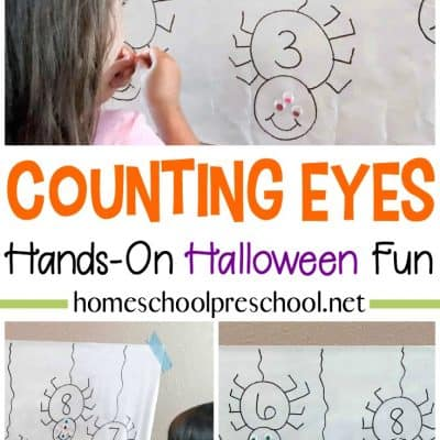 Counting Spider Eyes Math Activity for Preschoolers