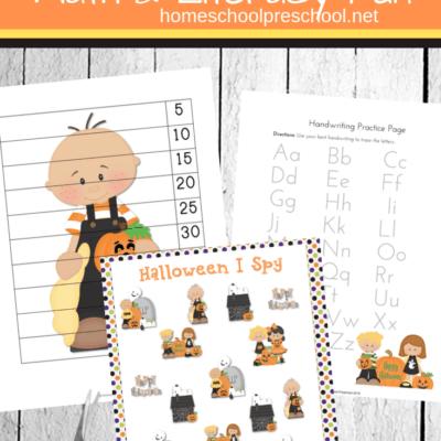 Preschool Halloween Printable Activities Pack