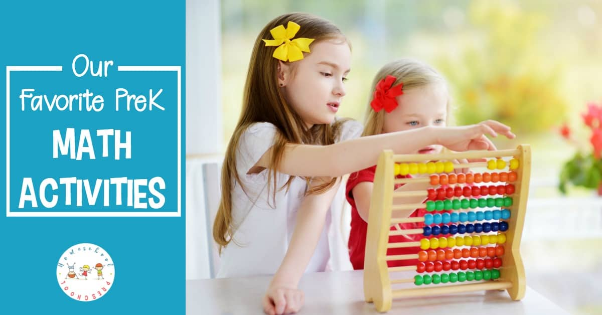 From number recognition to counting to beginning math skills, don't miss these engaging math activities for preschoolers!