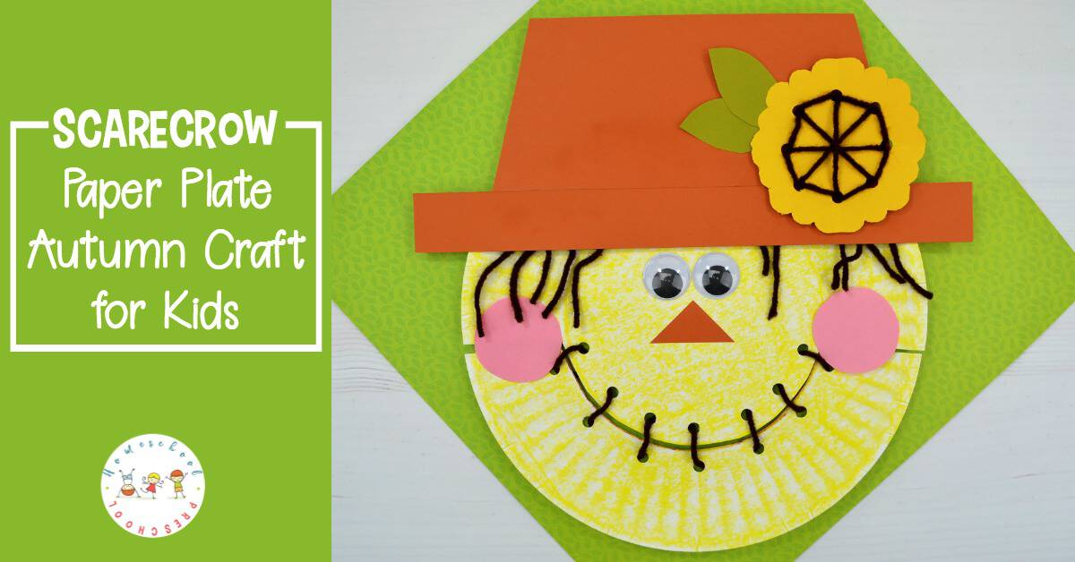 Create this simple paper plate scarecrow for a cute fall craft for kids. With these step-by-step instructions, this scarecrow craft is so easy to make.