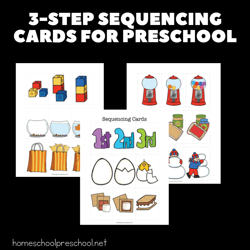 Kids will begin to make sense of the order in which events happen when you introduce them to sequencing with these 3 step sequencing cards for kids.