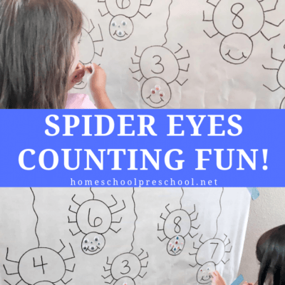 Counting Spider Eyes Spider Math Activity