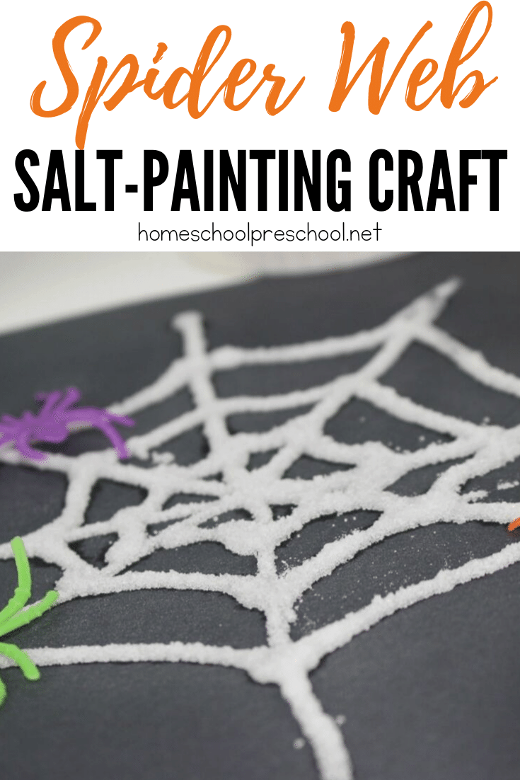 Discover a great nonfiction spider book for kids, a fun salt painted spider web craft, and a spider-themed math printable! It's perfect for October!