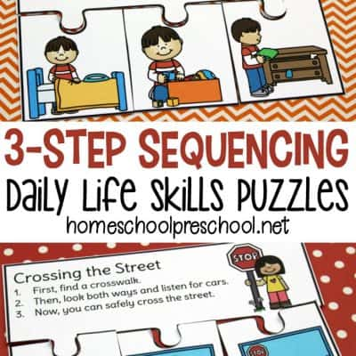 Daily Life 3 Step Sequencing Puzzles
