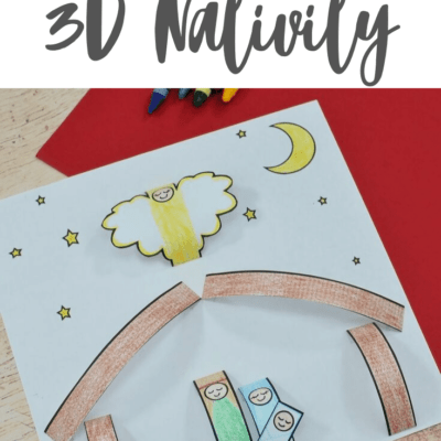 3D Paper Nativity Craft for Kids