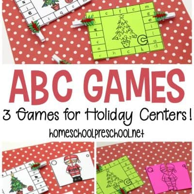 3 Christmas Alphabet Games for Kindergarten