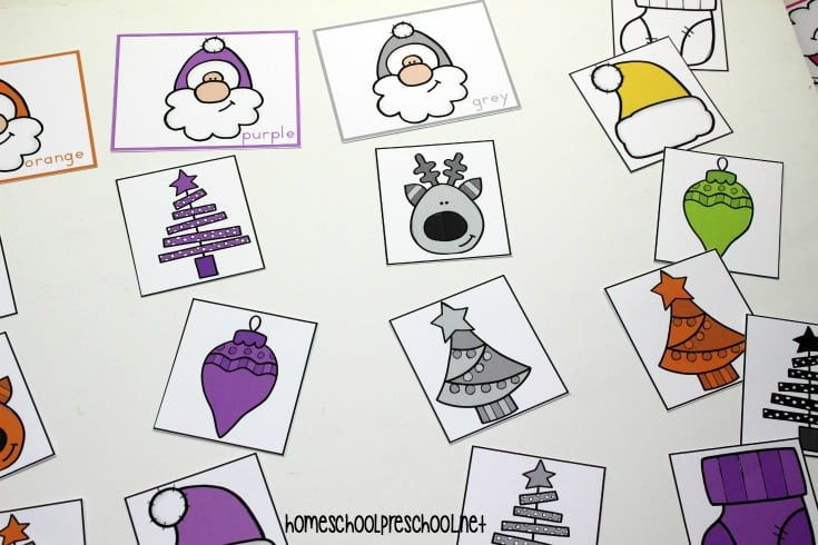 Inspire your preschoolers to practice color recognition with this Christmas color sorting printable! They'll sort Christmas items by color - eleven of them.
