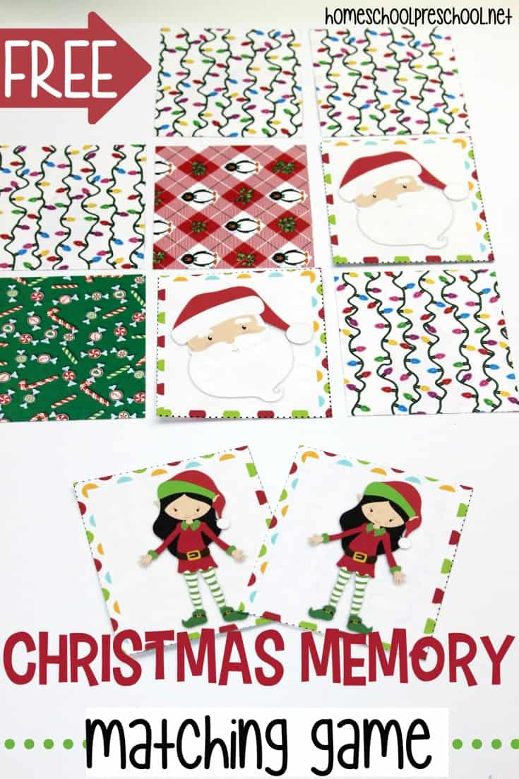 photograph regarding Free Printable Christmas Games for Adults called Totally free Printable Xmas Memory Recreation for Preschoolers