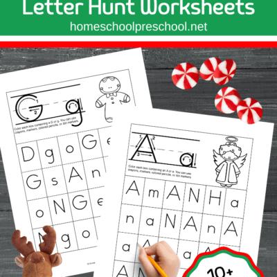 Christmas Alphabet Letters Scavenger Hunt
