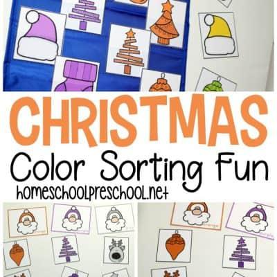 Christmas Color Sorting Printable