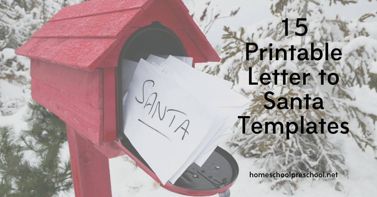Free Letter To Santa Template Printables For Christmas