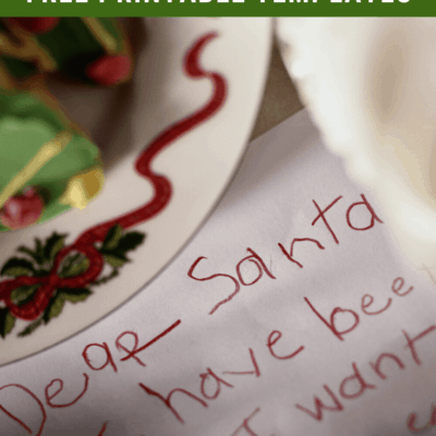 Letter to Santa Template Printables for Christmas