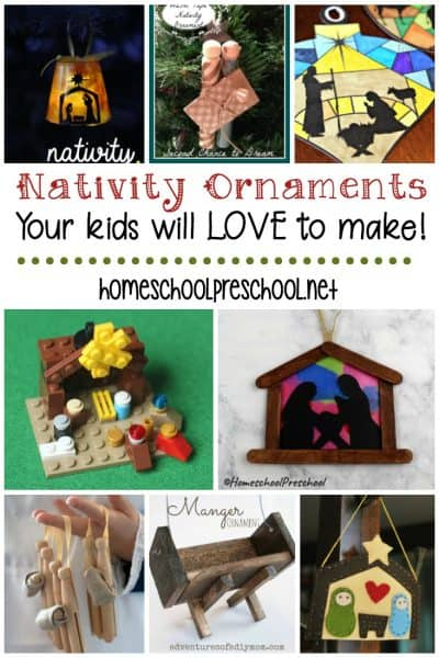 10 Handmade Nativity Christmas Ornaments