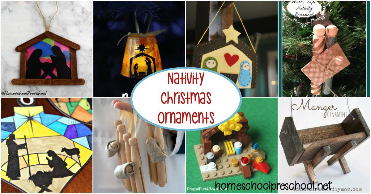 These simple and sweet kid-made nativity Christmas ornaments will look wonderful on your tree this year and for years to come!
