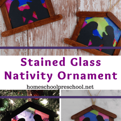 Simple Nativity Ornament Craft for Kids