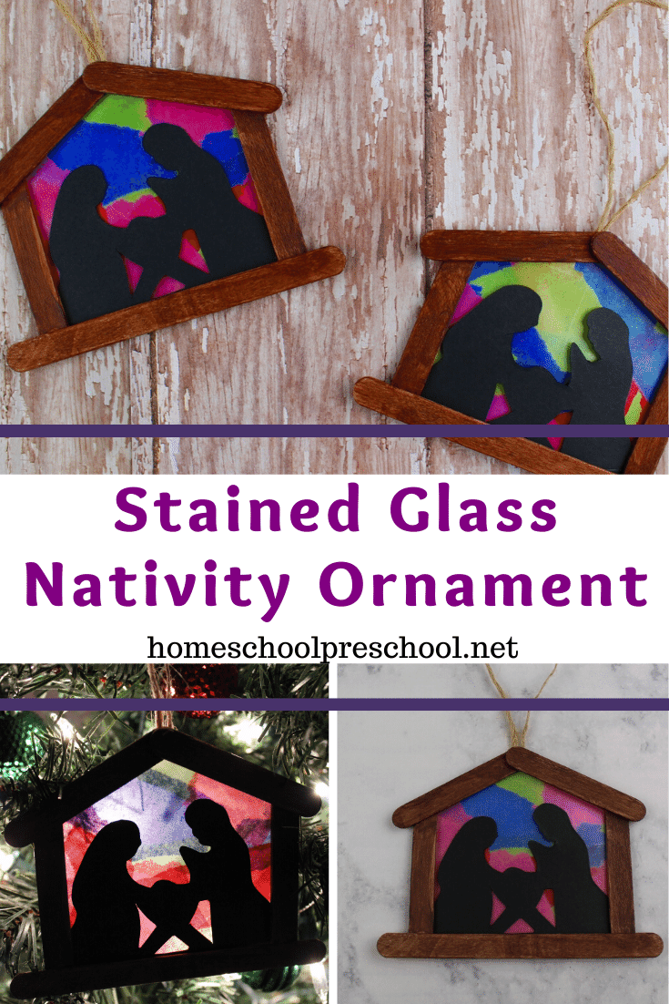 These simple nativity ornament craft for kids is not only beautiful on the tree, but it is a perfect afternoon activity for preschoolers!