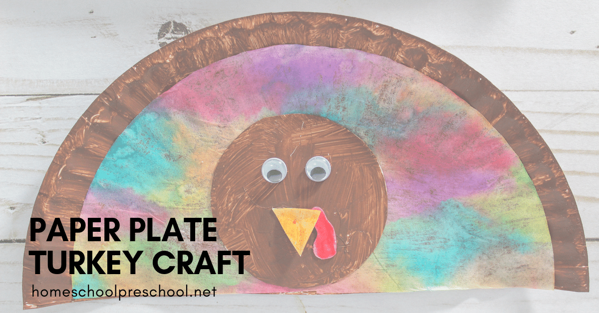 If you're looking for a fun Thanksgiving craft to do with your preschoolers, look no further! This water color paper plate turkey craft is so easy to make.