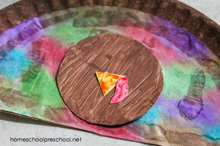 If you're looking for a fun Thanksgiving craft to do with your preschoolers, look no further! This water color turkey paper plate craft is so easy to make.