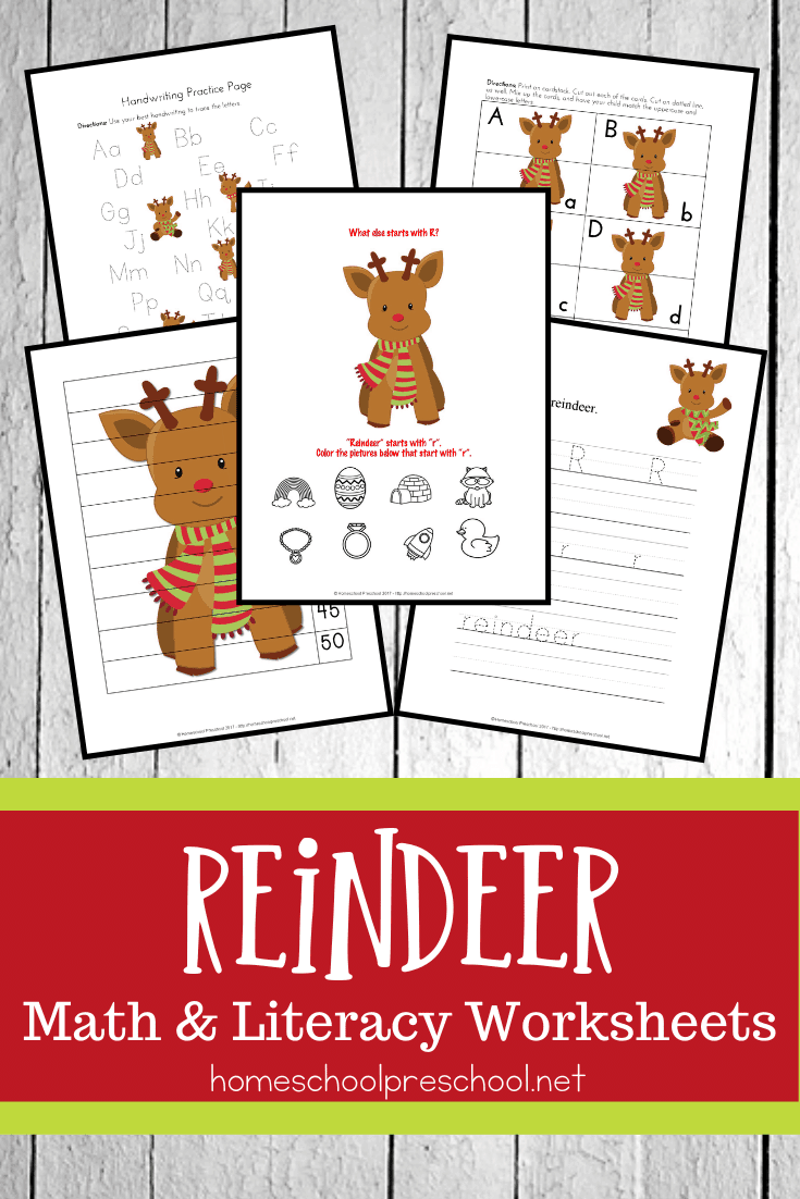 Keep preschoolers engaged this season with a fun set of preschool reindeer printable math and literacy activities. Perfect for December preschool centers!