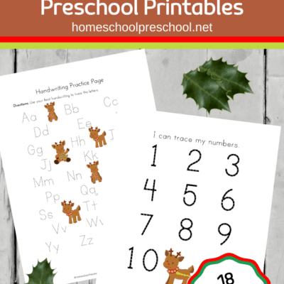 Preschool Reindeer Printable Activities