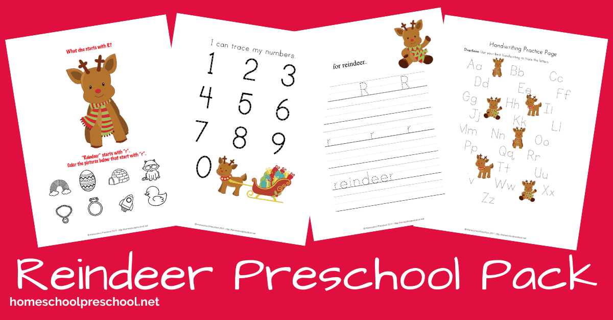 Preschool Reindeer Printable Activities For Christmas