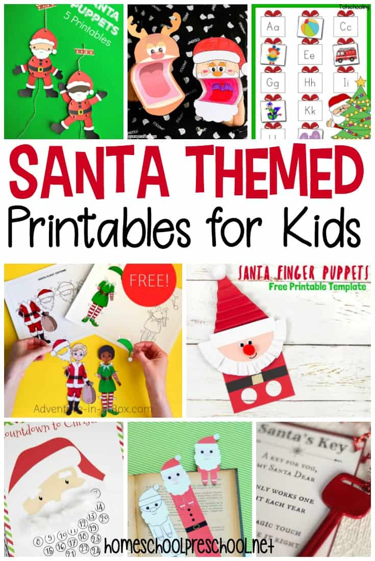 Little ones will love these Santa printables for kids! Worksheets, activities, STEM, and much more. Add them to your Christmas activities for preschool.