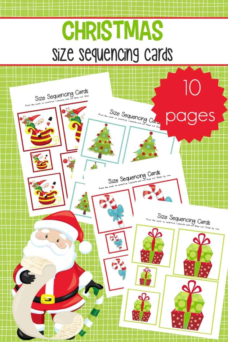 This mini pack of Christmas size sequencing cards for preschool is perfect for your math centers throughout the holiday season. This pack includes 10 sets of sequencing cards!