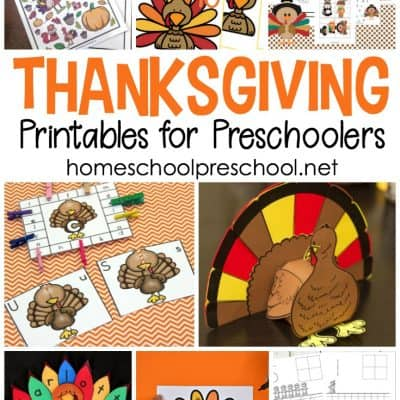 Thanksgiving Printables for Preschoolers