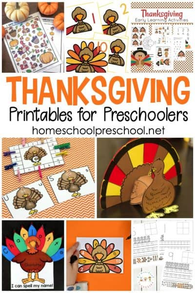 These Thanksgiving printables for preschoolers feature crafts and learning activities that are sure to keep your young ones engaged throughout the holiday season.