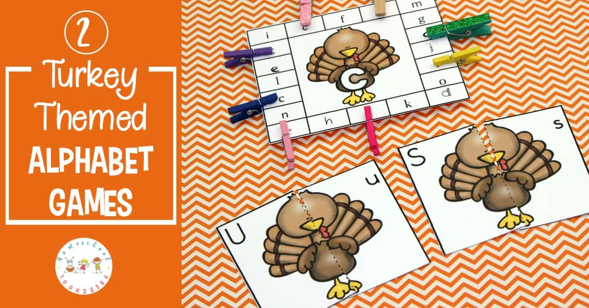 Looking for new alphabet games for preschoolers? Don't miss these turkey-themed alphabet games that are perfect for your lessons this Thanksgiving!
