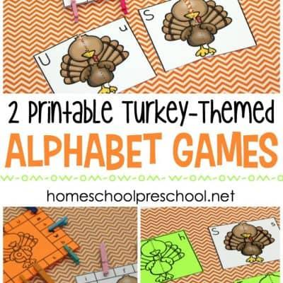 Turkey Alphabet Games for Preschoolers