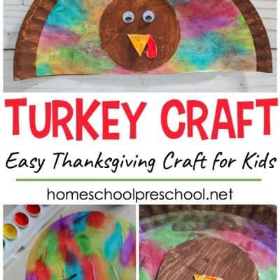 Thanksgiving Turkey Paper Plate Craft