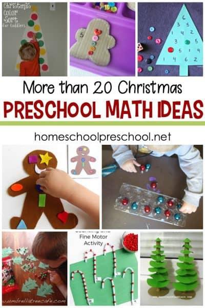 Hands On Christmas Math Activities for Preschoolers