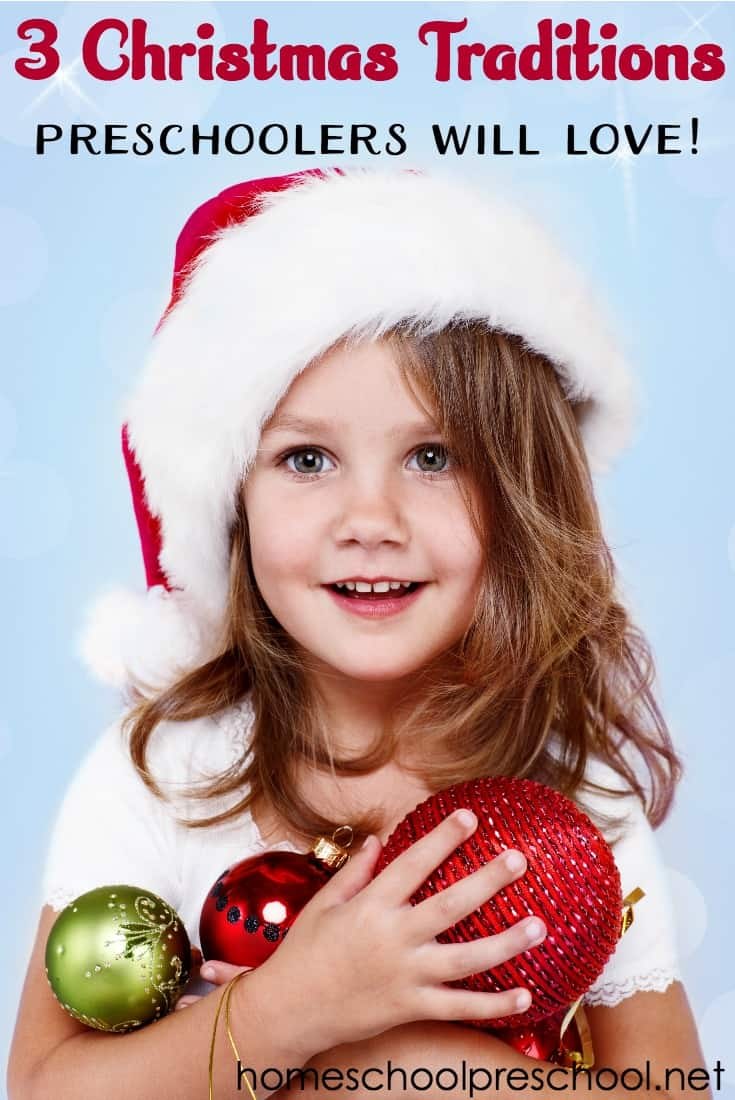Looking for new Christmas traditions to start this year? Come discover three simple Christmas traditions preschoolers will love!