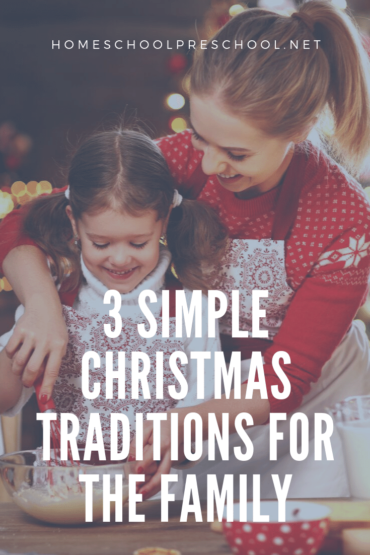 Looking for simple Christmas traditions to start this year? Discover three simple but meaningful traditions preschoolers will love!