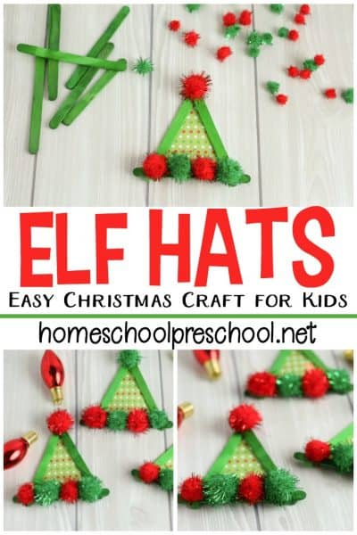 Simple Elf Craft for Toddlers and Preschoolers