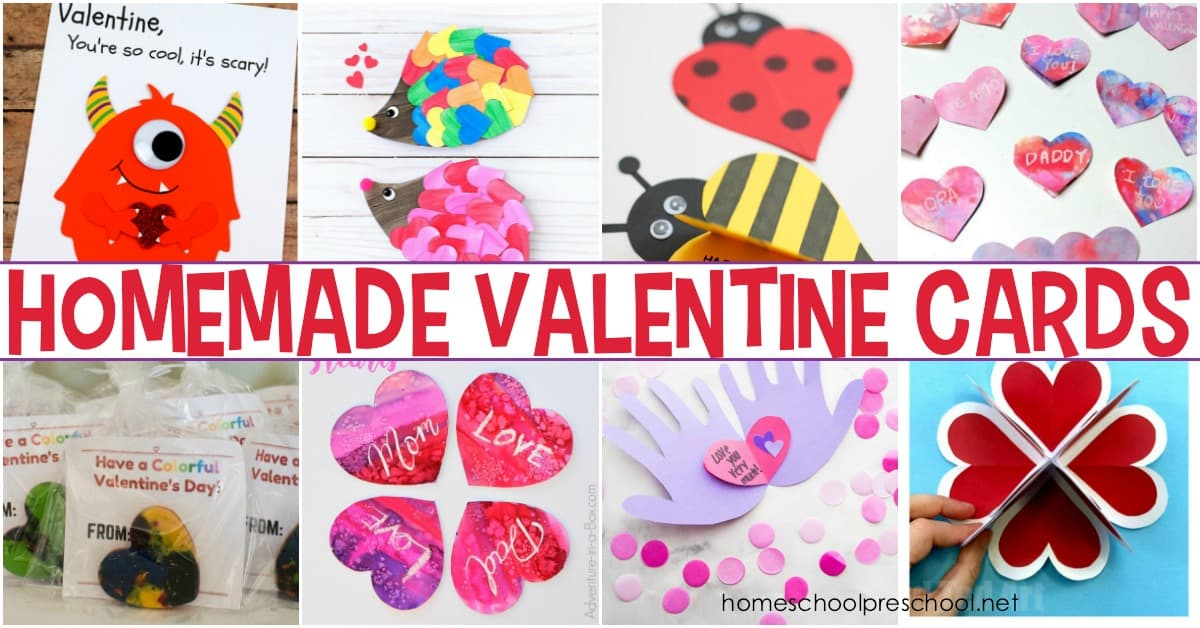 Crafty kids will love making homemade Valentine cards for their friends and loved ones. This collection has some amazing ideas for kids of all ages!