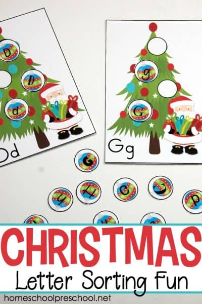 This Christmas-themed letter matching alphabet game will give kids a hands-on opportunity to work on letter recognition this holiday season!