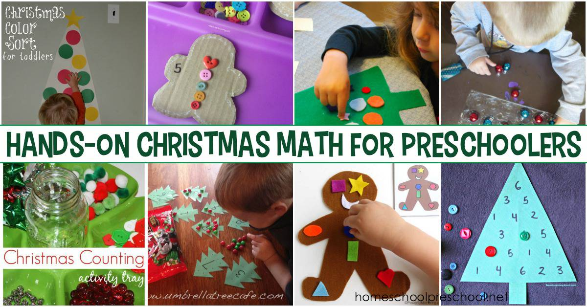 Are you looking for a few hands-on Christmas math activities for preschoolers? I've got what you need! Check out more than twenty awesome ideas.