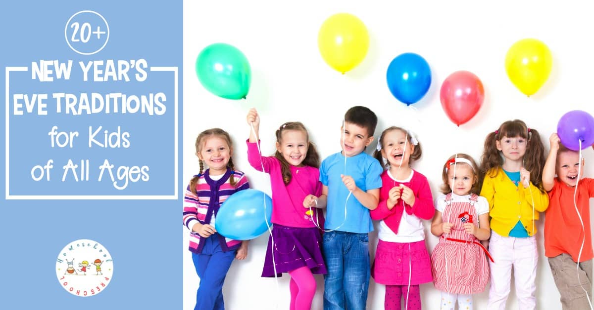 Are you looking for some fun ways to kick off the new year with your children? Don't miss these New Years Eve traditions for kids! More than 20 ideas to choose from!