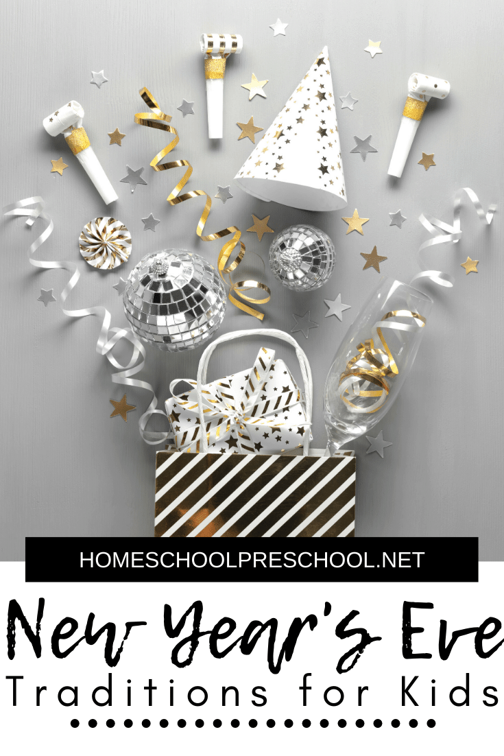 Looking for fun ways to kick off the new year with your children? Don't miss these New Years Eve traditions for kids! More than 20 ideas to choose from!