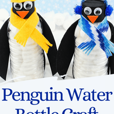 Water Bottle Penguin Craft