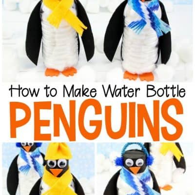 DIY Water Bottle Penguin Preschool Craft