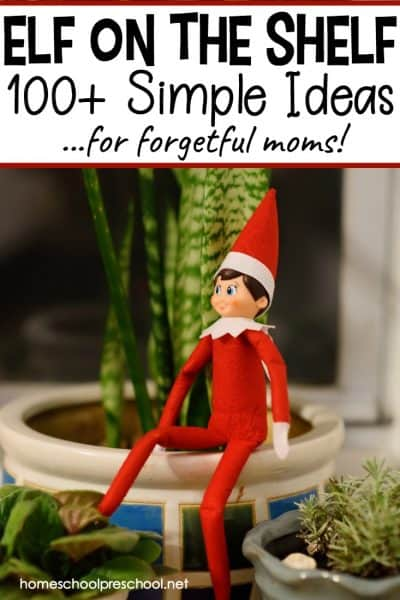 Easy Preschool Elf on the Shelf Ideas